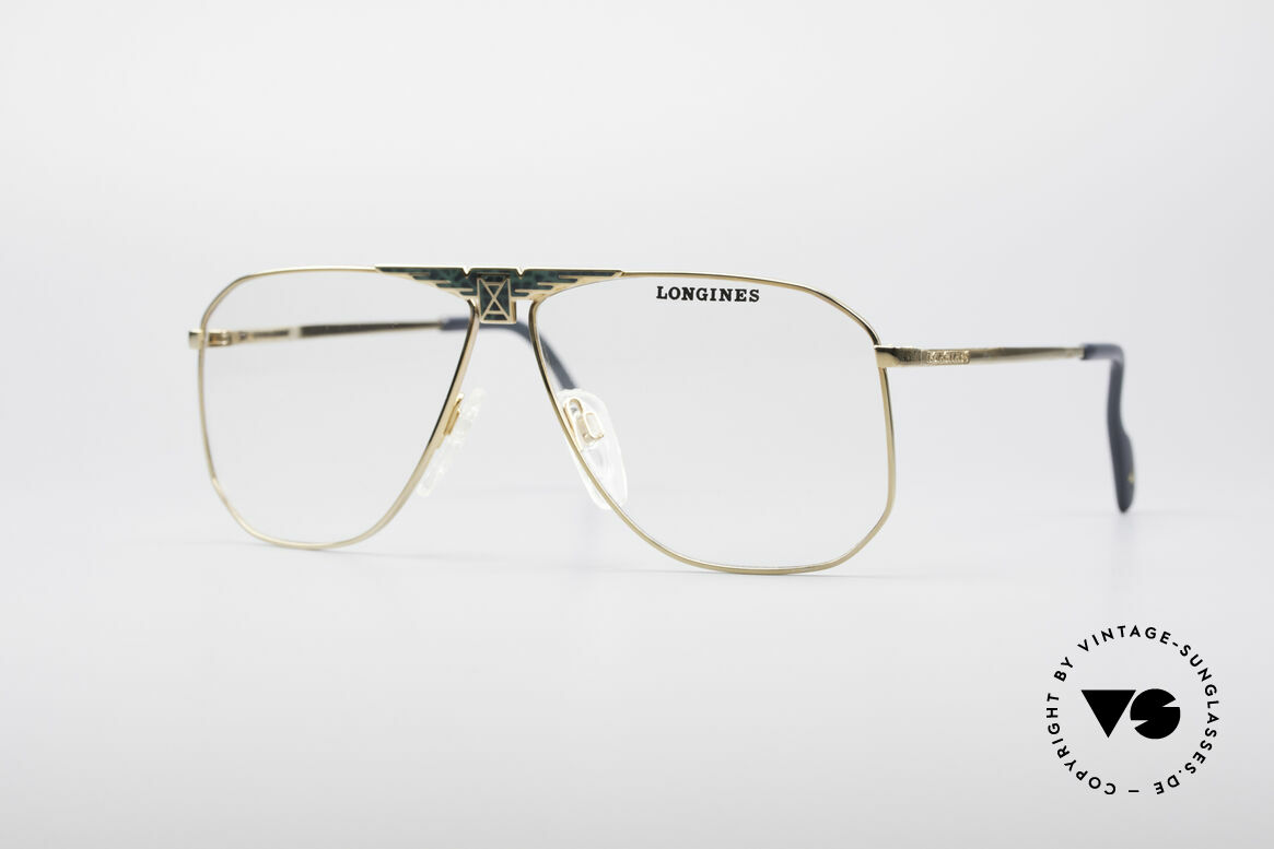 Longines 0155 80's Designer Frame, high-end VINTAGE designer eyeglasses by LONGINES, Made for Men