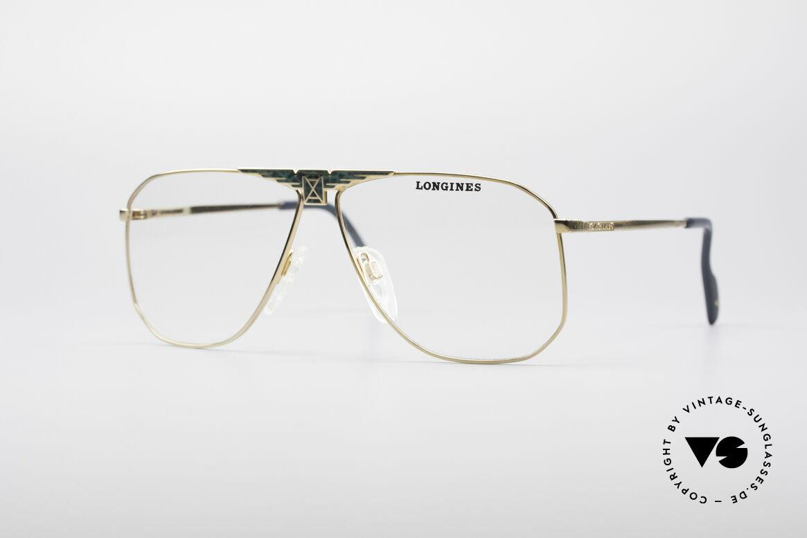 Longines 0155 80's Designer Frame For Men, high-end VINTAGE designer eyeglasses by LONGINES, Made for Men