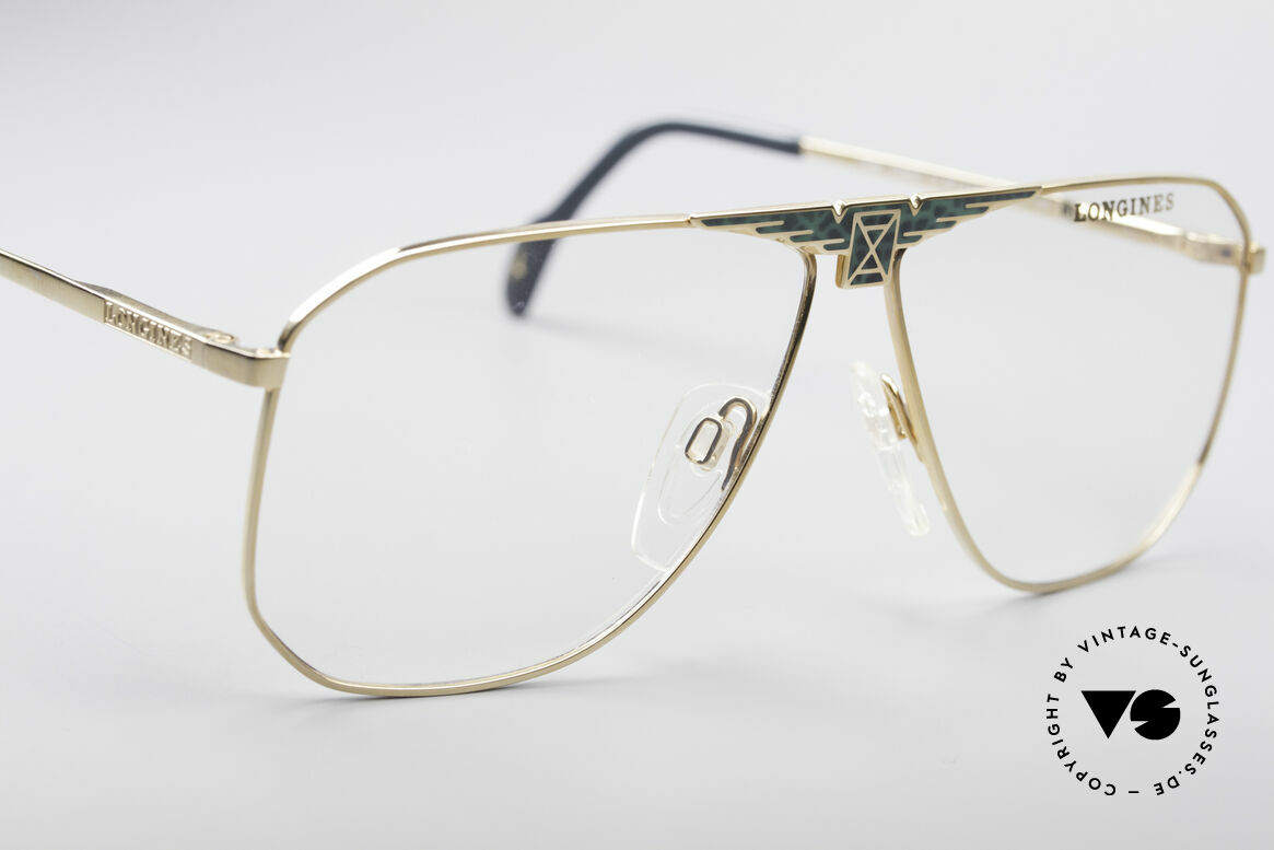 Longines 0155 80's Designer Frame, NO retro eyeglasses, but a true old 1980's ORIGINAL!, Made for Men