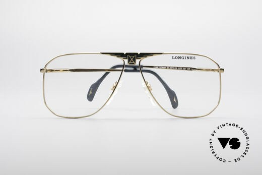 Longines 0155 80's Designer Frame, you can put optical (sun)lenses in the frame optionally, Made for Men