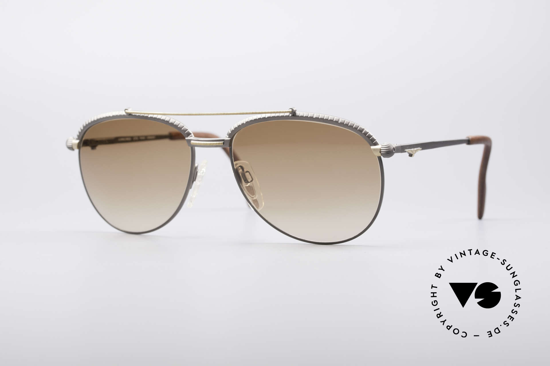 Longines 0161 80's Luxury Sunglasses, very noble vintage sunglasses by LONGINES from 1985, Made for Men