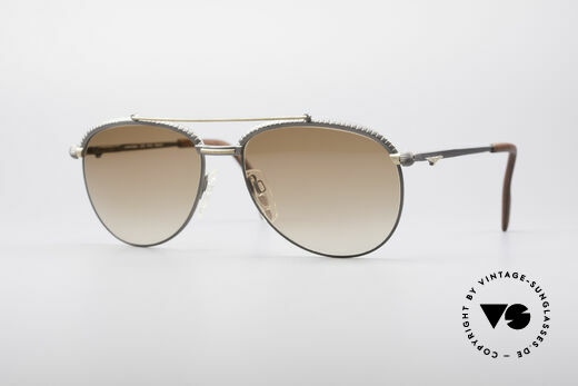 Longines 0161 80's Luxury Sunglasses Details
