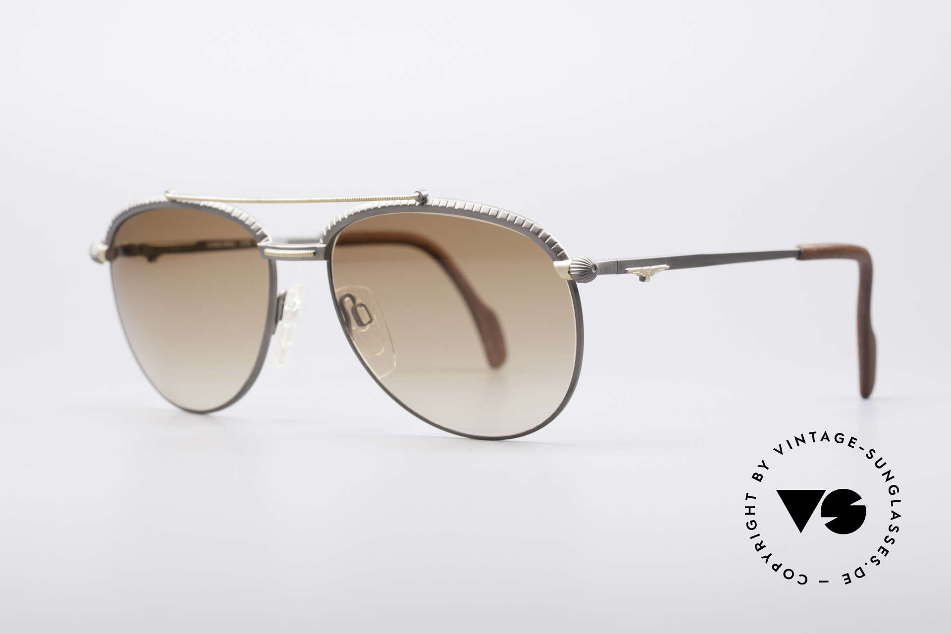 Longines 0161 80's Luxury Sunglasses, temple ends are covered with leather (1. class comfort), Made for Men
