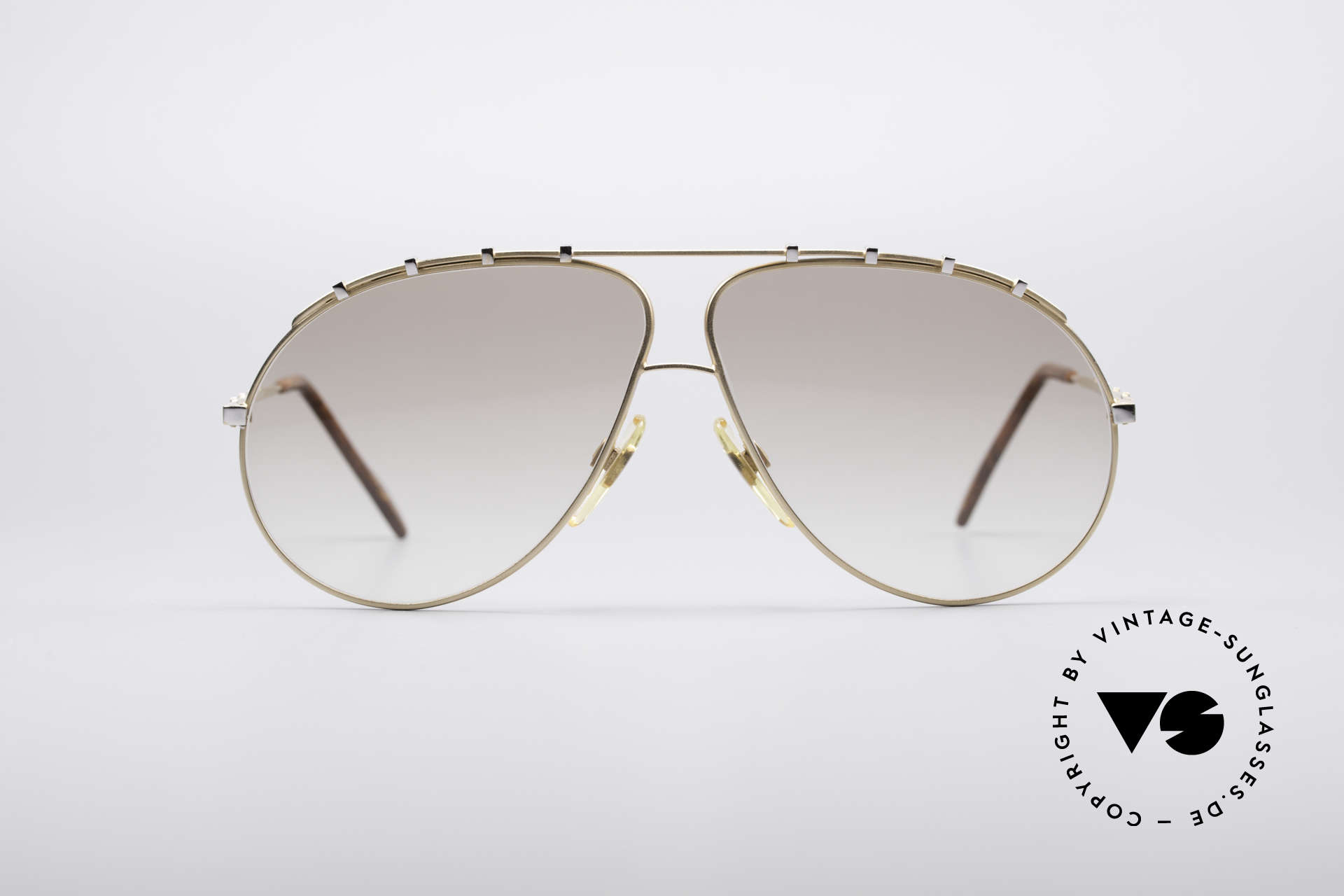 Zollitsch Marquise Rare Vintage Shades, precious, large metal frame for men (140mm width), Made for Men