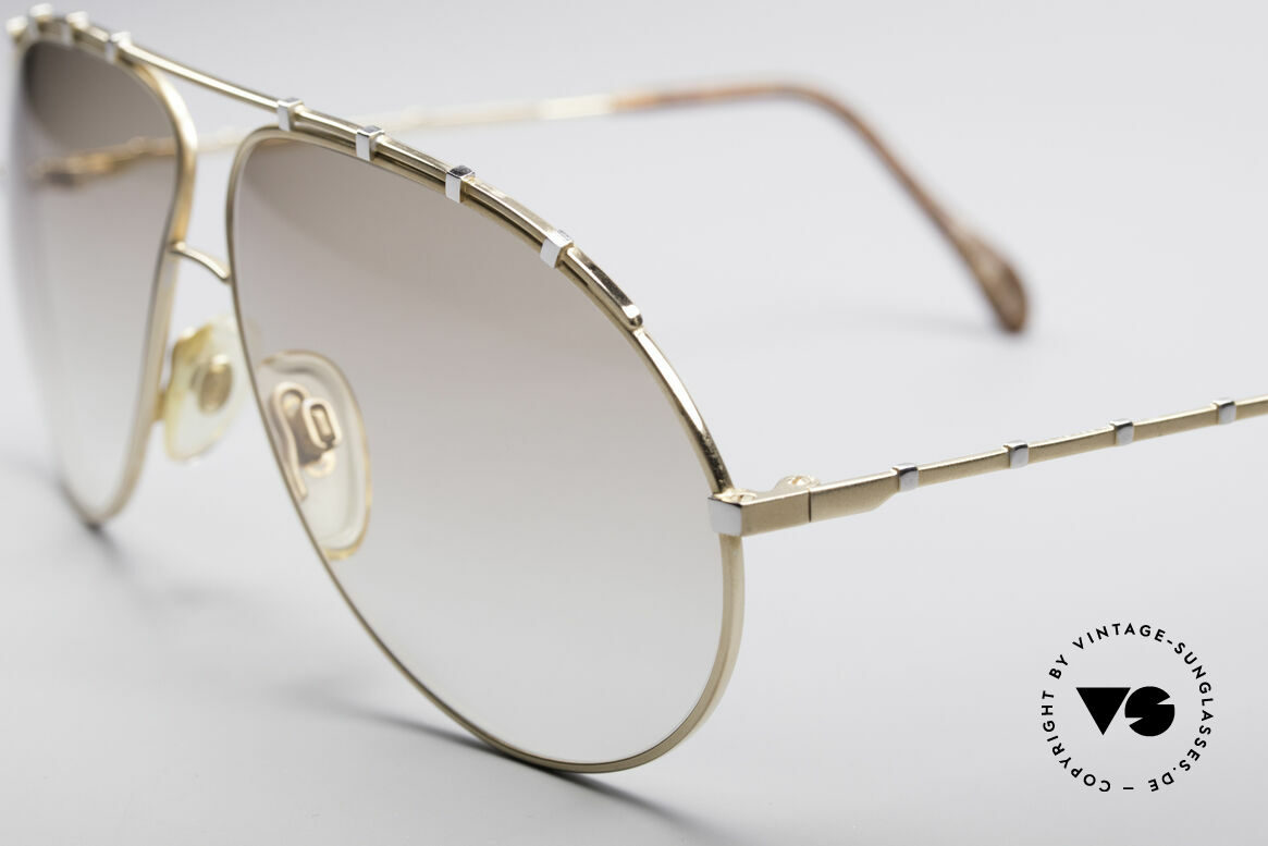 Zollitsch Marquise Rare Vintage Shades, slightly brown tinted lenses (also wearable at night), Made for Men