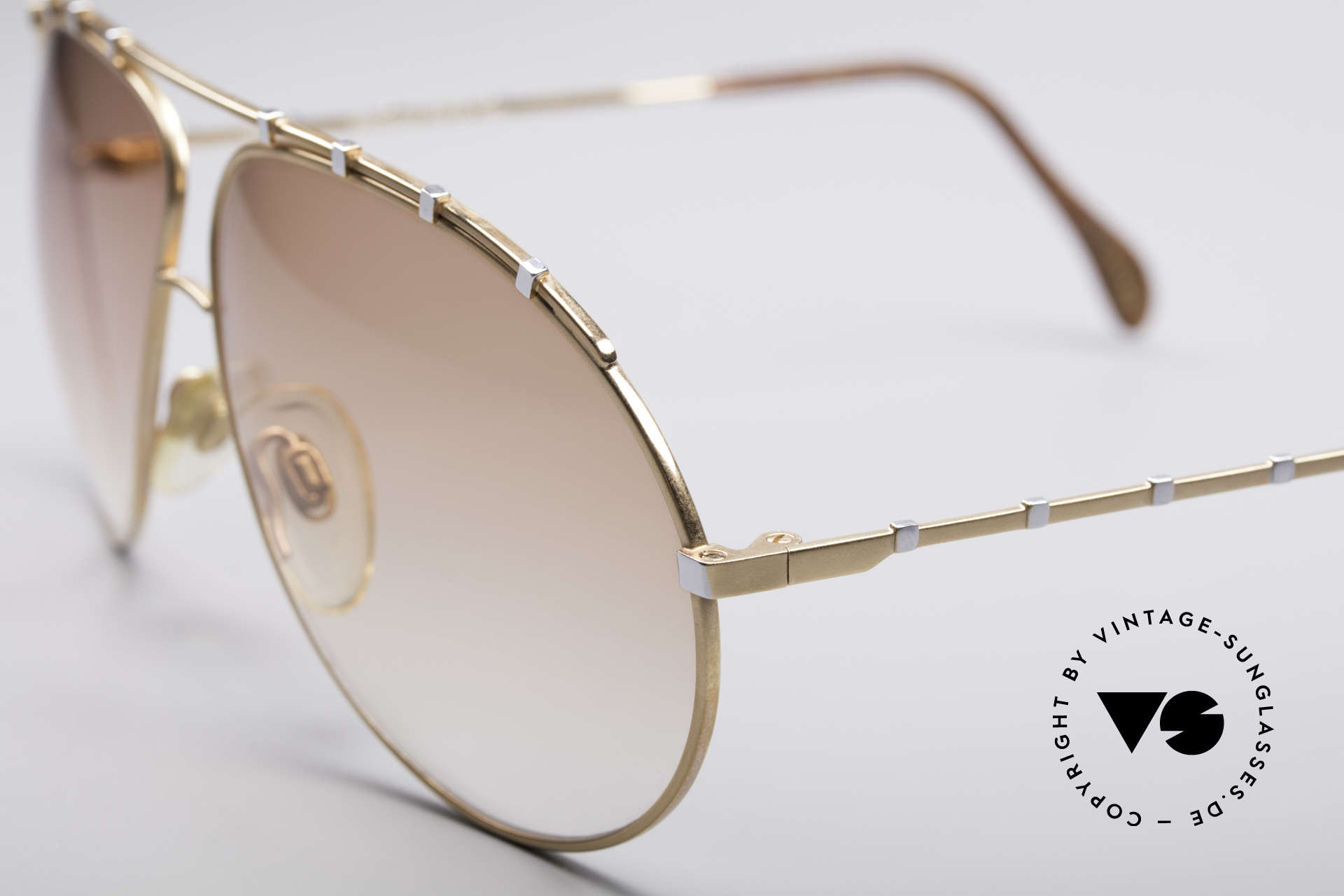 Zollitsch Marquise Rare Vintage Frame, slightly brown tinted lenses (also wearable at night), Made for Men