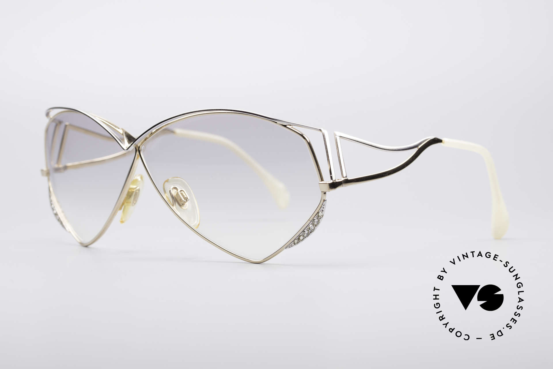 Zollitsch Navette Princess Sunglasses, a true eye-catcher with light gray tinted sun lenses, Made for Women