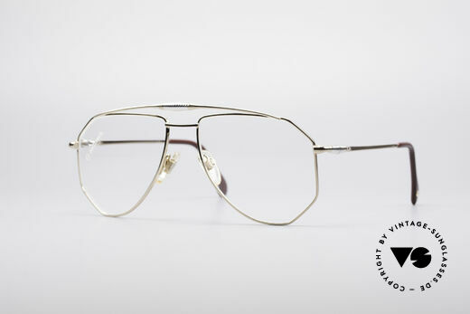 Zollitsch Cadre 120 Large 80's Aviator Glasses Details