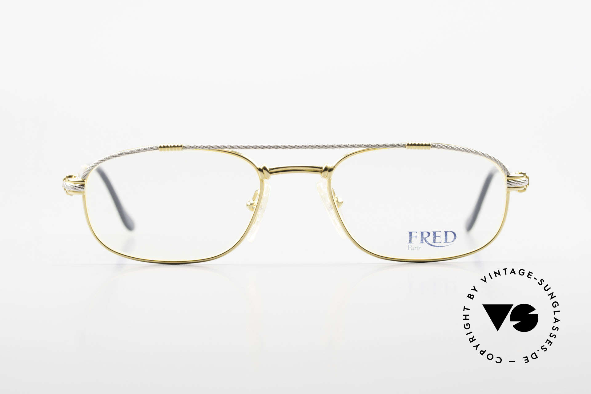 Fred Fregate Luxury Sailing Glasses S Frame, vintage eyeglass-frame by Fred, Paris from the 1980s, Made for Men