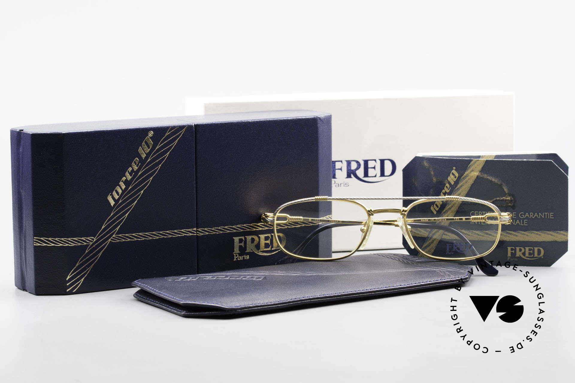 Fred Fregate Luxury Sailing Glasses S Frame, unworn, like all our precious vintage eyeglass-frames, Made for Men