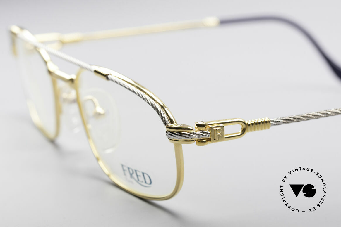 Fred Fregate Luxury Sailing Glasses S Frame, temples are twisted like a hawser; sailor's MUST HAVE, Made for Men