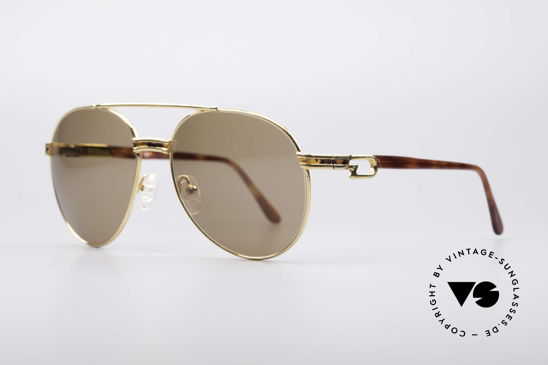Derapage D2 Vintage No Retro Shades, gold-plated and spring temples (perfect fit), Made for Men