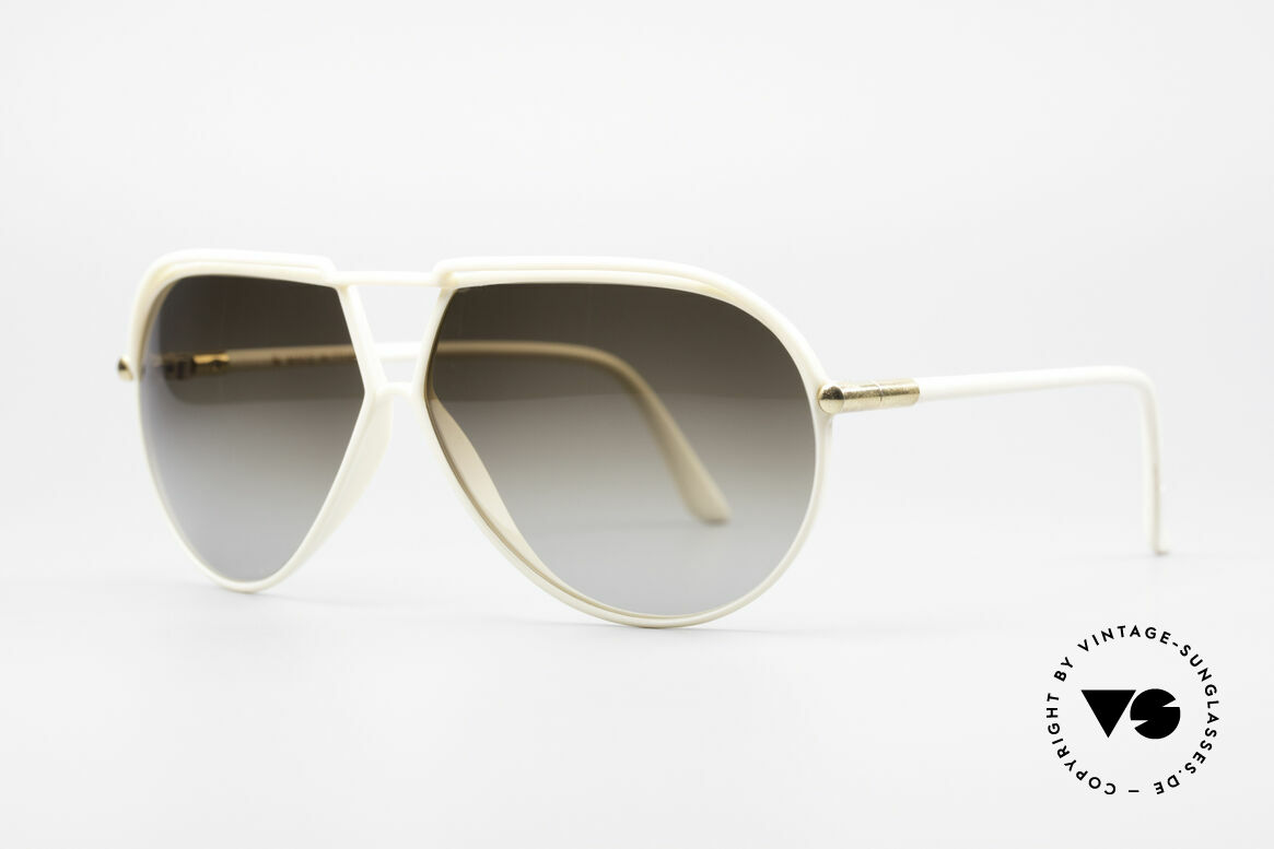 "Yves Saint Laurent 8129 Y17 70's Aviator Shades, discreet frame coloring in a kind of ""crème or ivory"", Made for Men and Women"