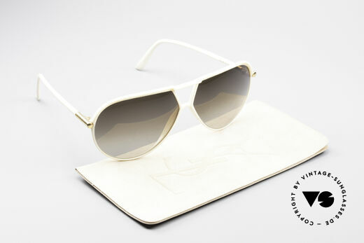 Yves Saint Laurent 8129 Y17 70's Aviator Shades, brown-gradient sun lenses for 100% UV protection!, Made for Men and Women