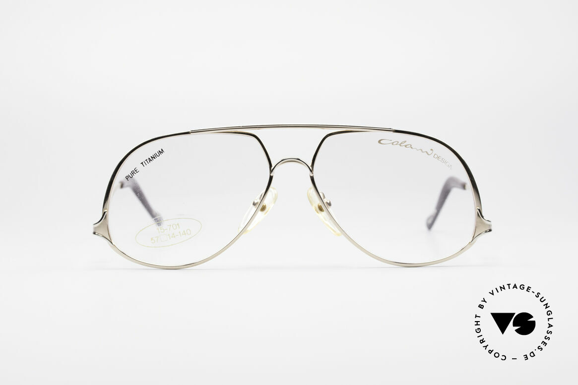 Colani 15-701 Iconic 80's Titan Frame, iconic designer glasses by Luigi Colani of the 80's, Made for Men