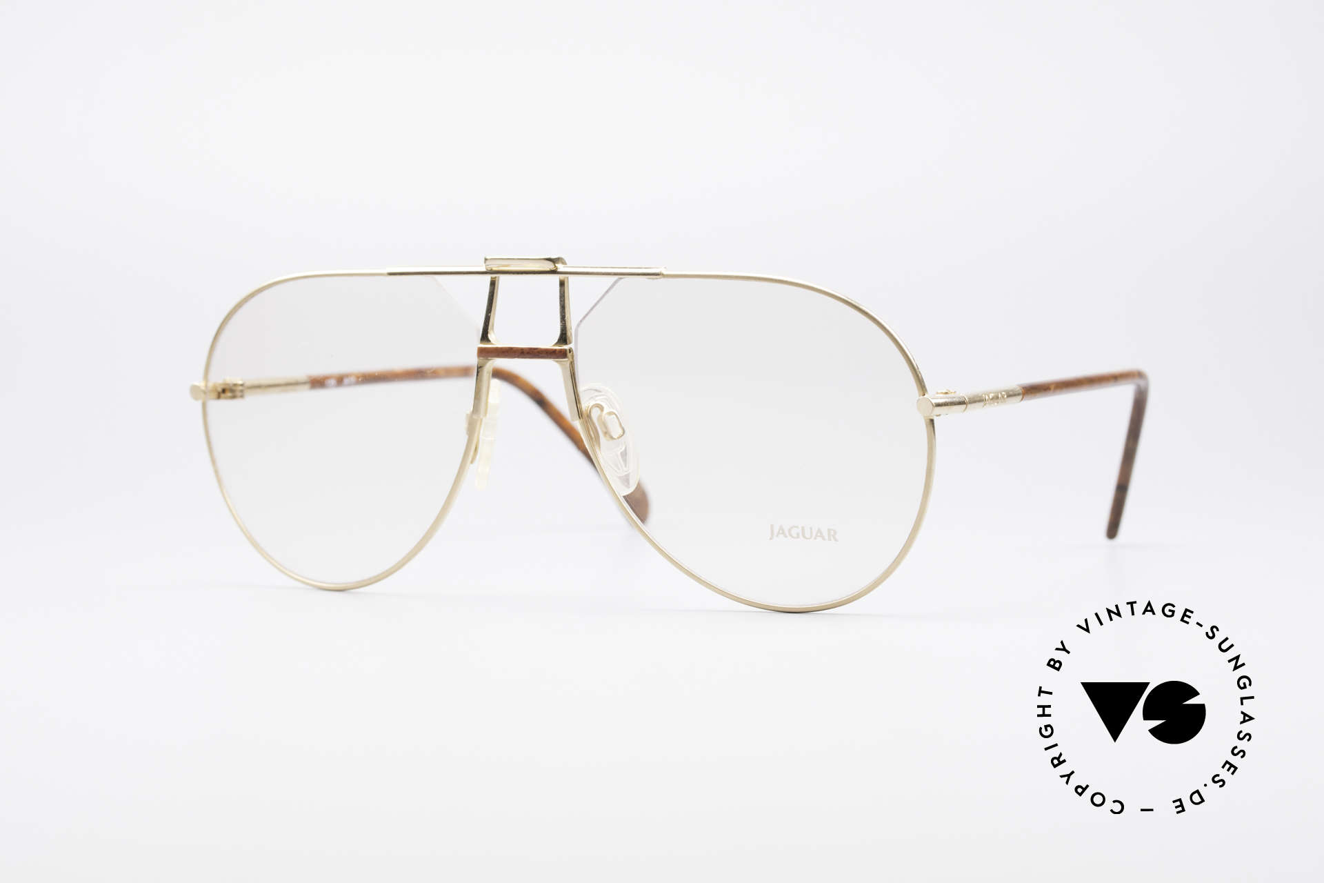 "Jaguar 407 80's Luxury Accessory, ""old british"" aviator style eyeglasses by Jaguar, Made for Men"