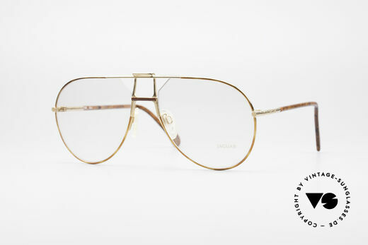 Jaguar 407 80's Luxury Eyeglasses Details