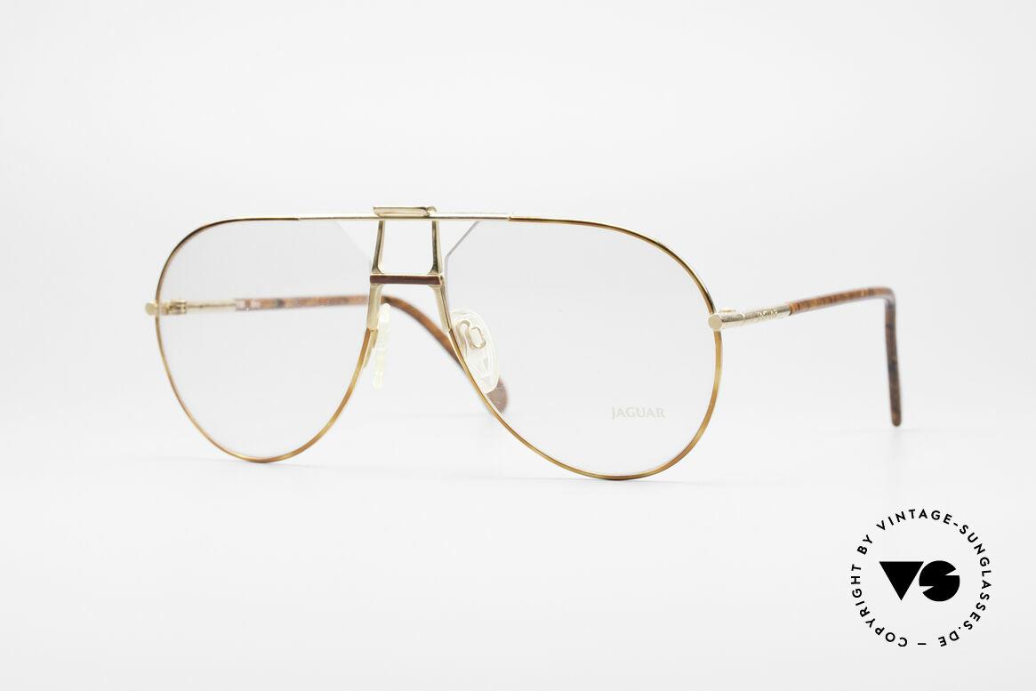 "Jaguar 407 80's Luxury Eyeglasses, ""old british"" aviator style eyeglasses by Jaguar, Made for Men"