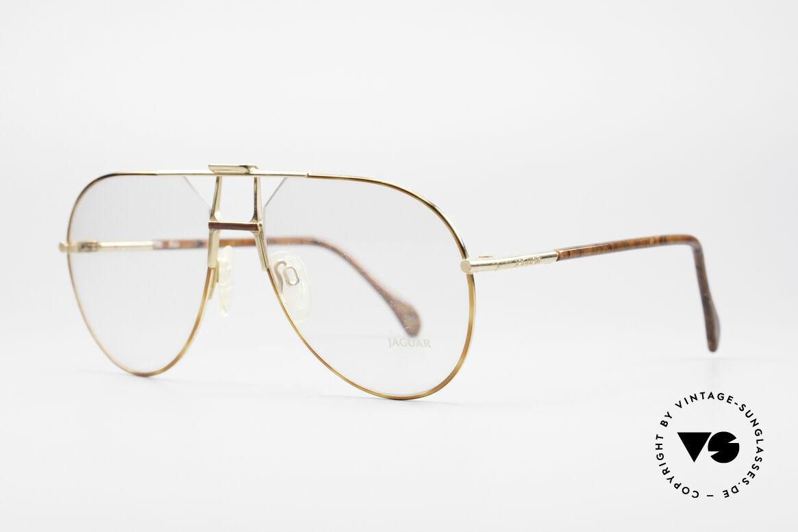 Jaguar 407 80's Luxury Eyeglasses, gold/tortoise & root-wood temples and bridge, Made for Men