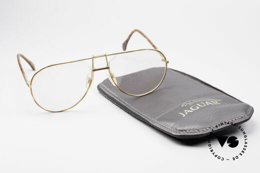 Jaguar 407 80's Luxury Eyeglasses, demo lenses can be replaced with optical lenses, Made for Men