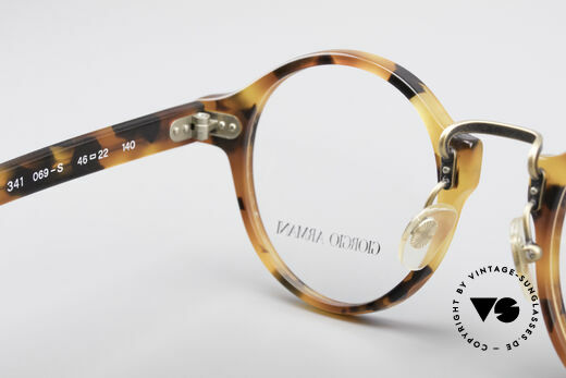 Giorgio Armani 341 Panto Eyeglass-Frame, NO retro frame, but an unique 30 years old ORIGINAL!, Made for Men