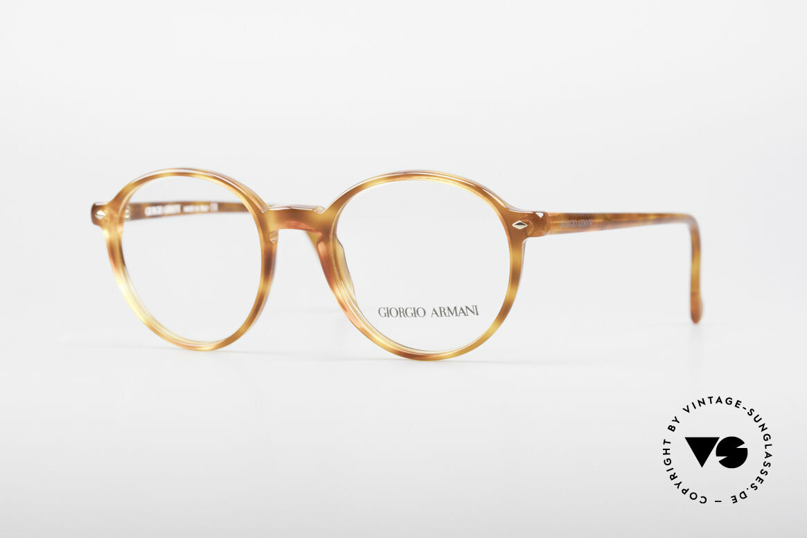 Giorgio Armani 325 Panto 90's Eyeglasses, timeless vintage Giorgio Armani designer eyeglasses, Made for Men