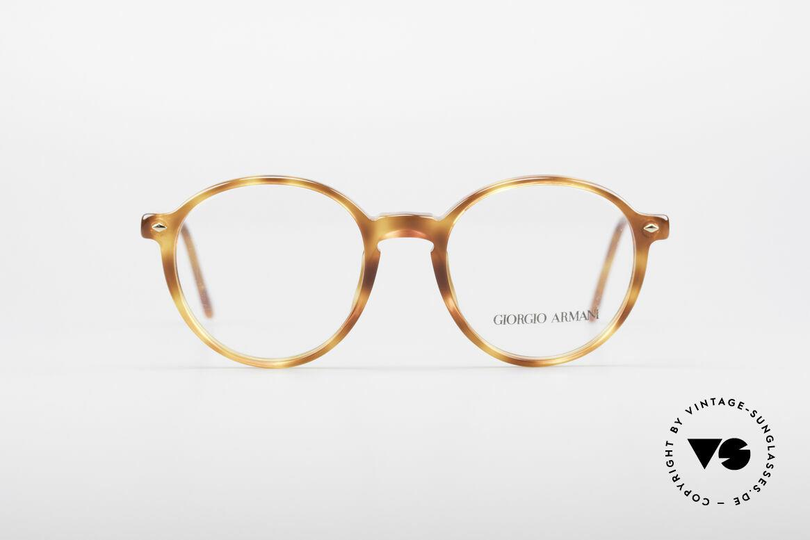 Giorgio Armani 325 Panto 90's Eyeglasses, panto frame design with classic light tortoise pattern, Made for Men