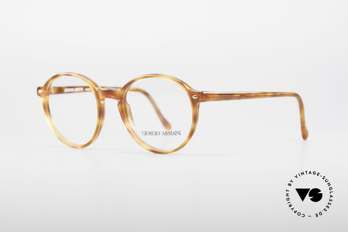 Giorgio Armani 325 Panto 90's Eyeglasses, tangible premium craftsmanship; 123mm = small size!, Made for Men
