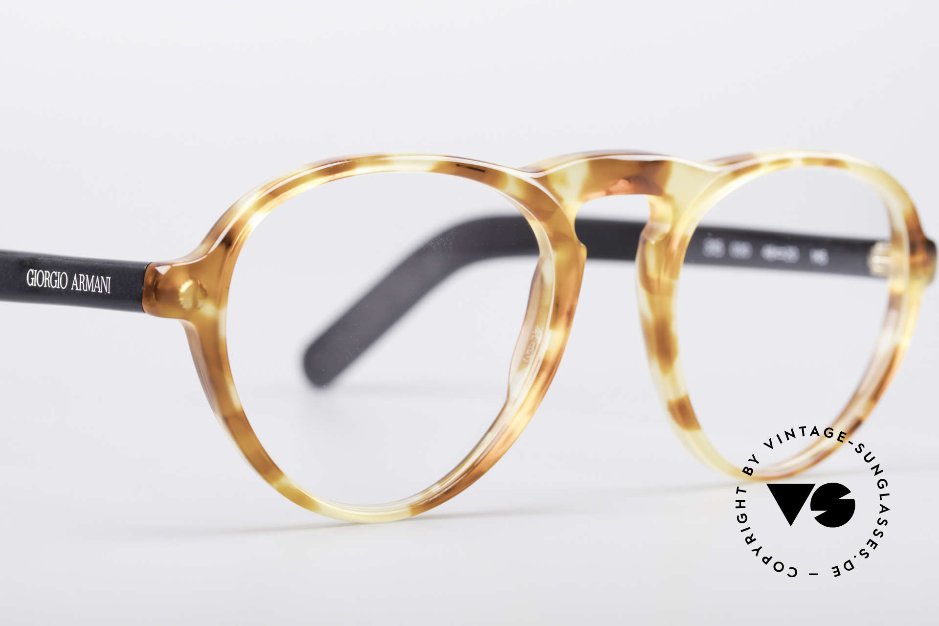 Giorgio Armani 315 True Vintage Eyeglass Frame, unworn (like all our vintage Giorgio Armani specs), Made for Men