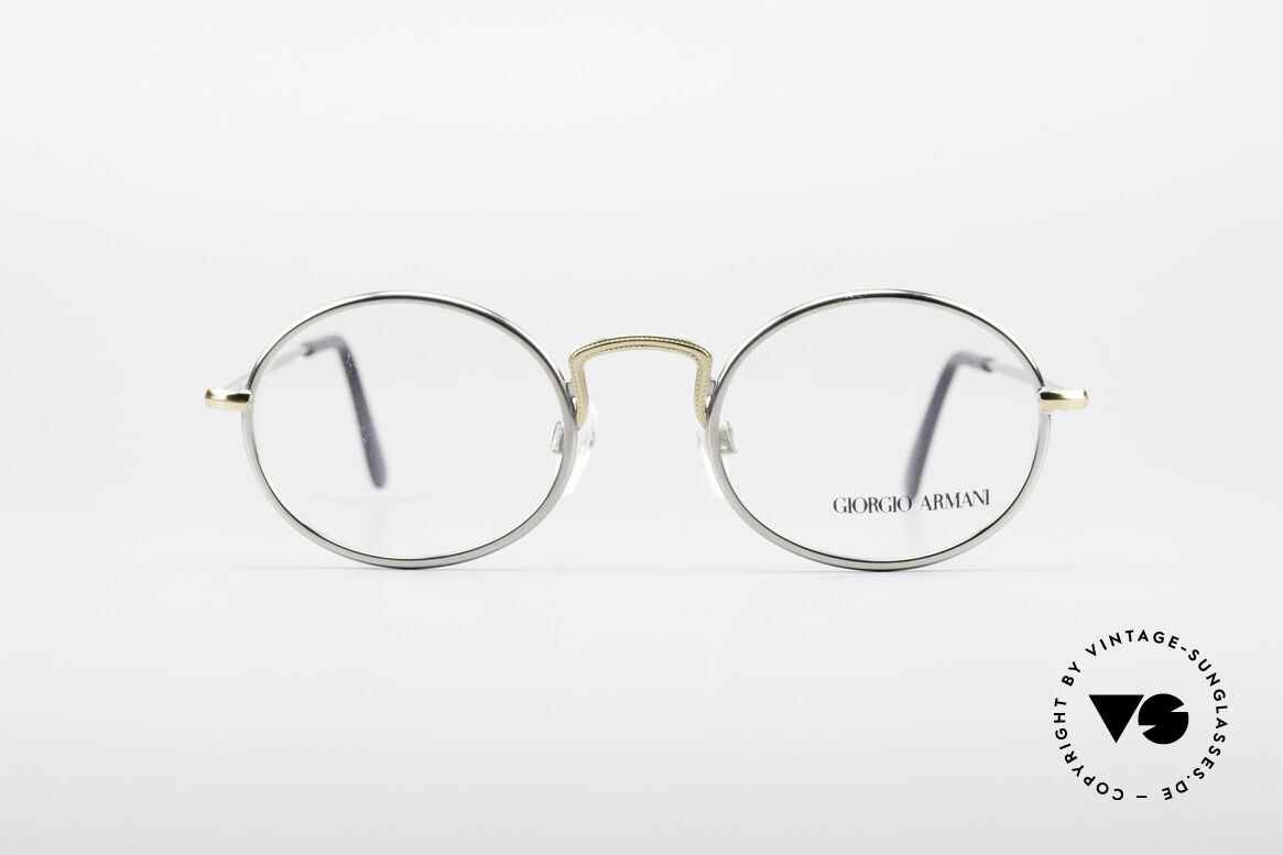 Giorgio Armani 156 Oval Vintage Eyeglasses, discreet oval metal frame in tangible top-quality, Made for Men and Women