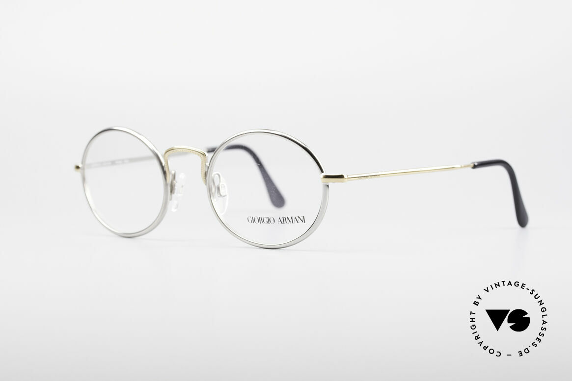 Giorgio Armani 156 Oval Vintage Eyeglasses, sober, timeless style: suitable for many occasions, Made for Men and Women
