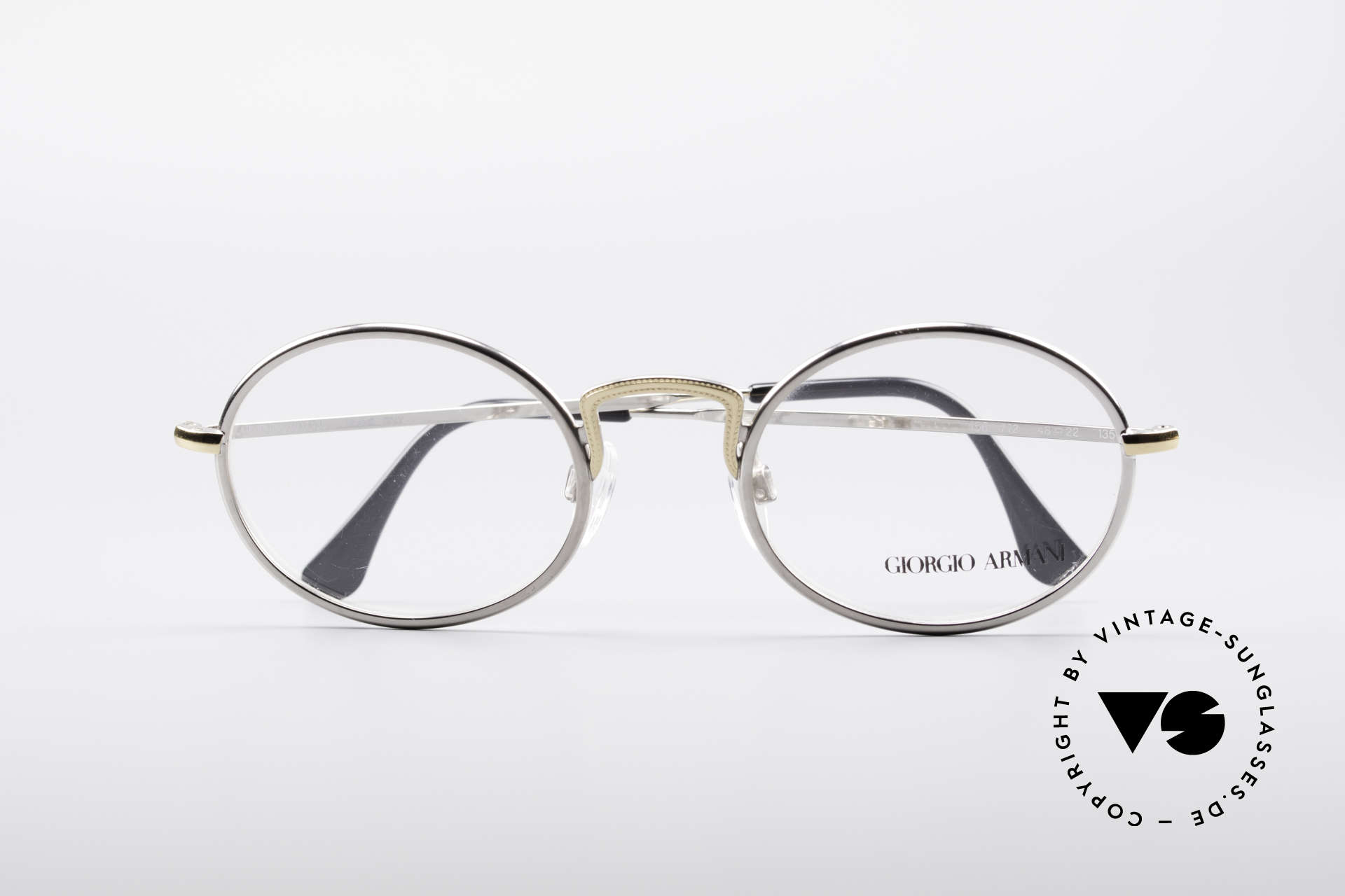 Giorgio Armani 156 Oval Vintage Eyeglasses, frame fits optical lenses or sun lenses optionally, Made for Men and Women