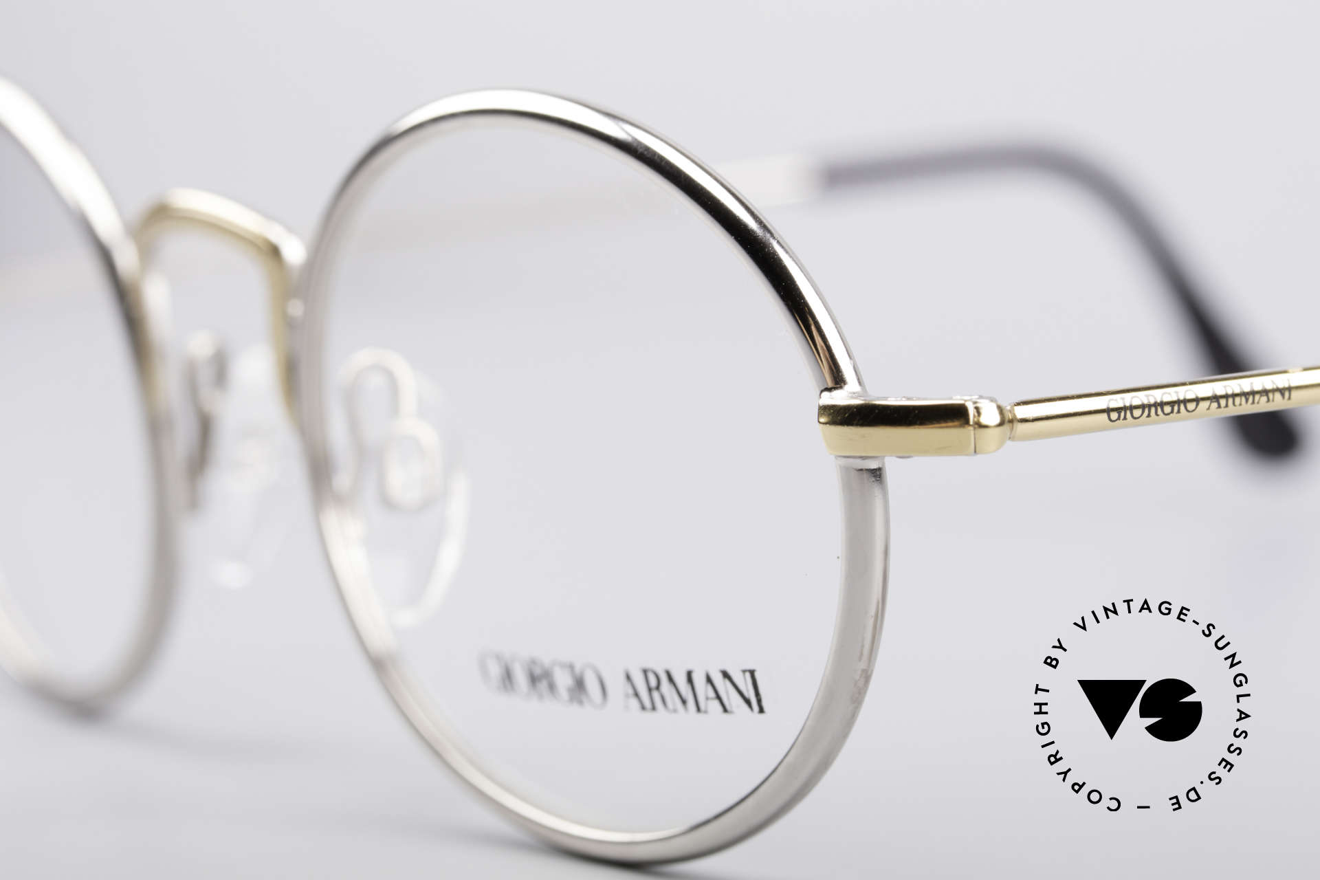 Giorgio Armani 156 Oval Vintage Eyeglasses, never worn (like all our 1980's designer classics), Made for Men and Women