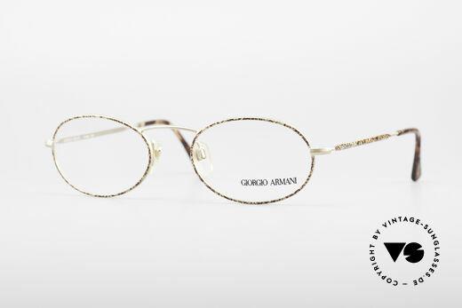 Giorgio Armani 125 Oval Vintage Frame Details