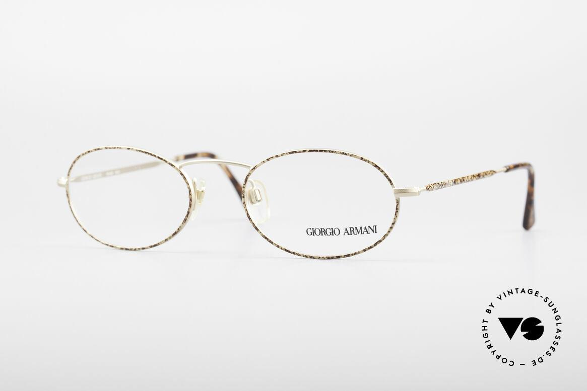 Giorgio Armani 125 Oval Vintage Frame, vintage designer eyeglasses by GIORGIO ARMANI, Made for Men and Women