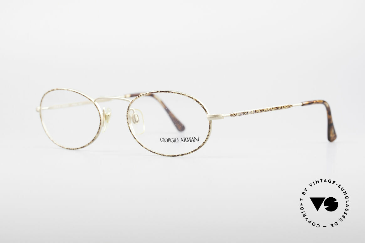 Giorgio Armani 125 Oval Vintage Frame, sober, timeless style: suitable for many occasions, Made for Men and Women
