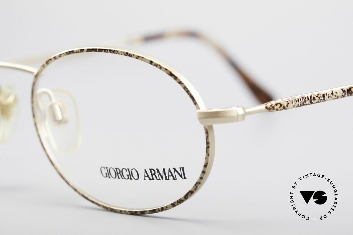 Giorgio Armani 125 Oval Vintage Frame, never worn (like all our 1980's designer classics), Made for Men and Women
