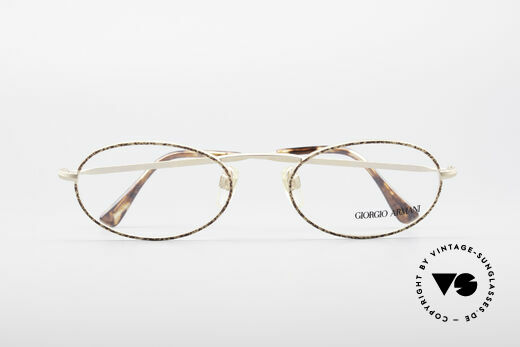 Giorgio Armani 125 Oval Vintage Frame, frame fits optical lenses or sun lenses optionally, Made for Men and Women