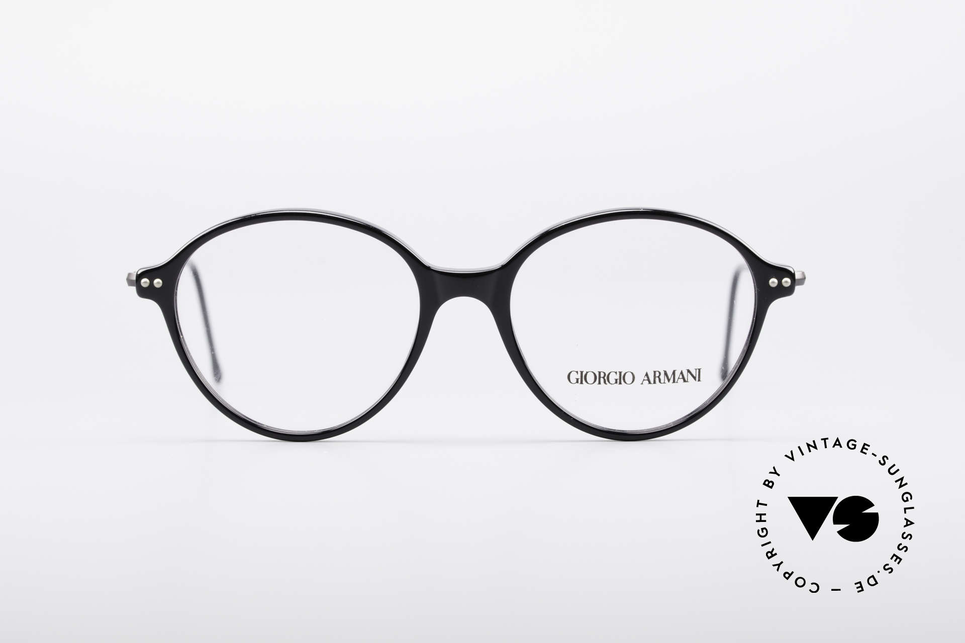 Giorgio Armani 374 90's Unisex Vintage Glasses, plain & puristic Armani eyeglasses (unisex design), Made for Men and Women