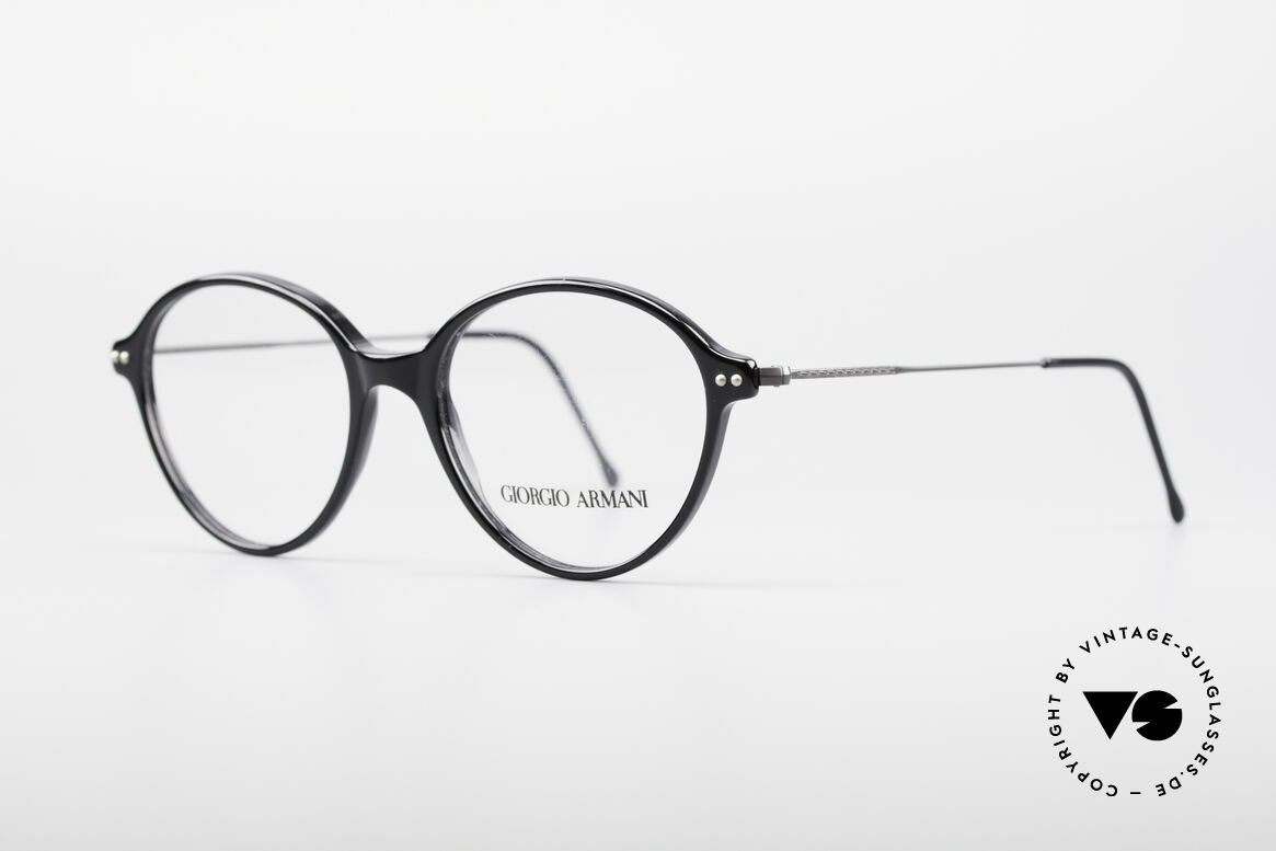 "Giorgio Armani 374 90's Unisex Vintage Glasses, lightweight plastic front with thin ""wire temples"", Made for Men and Women"