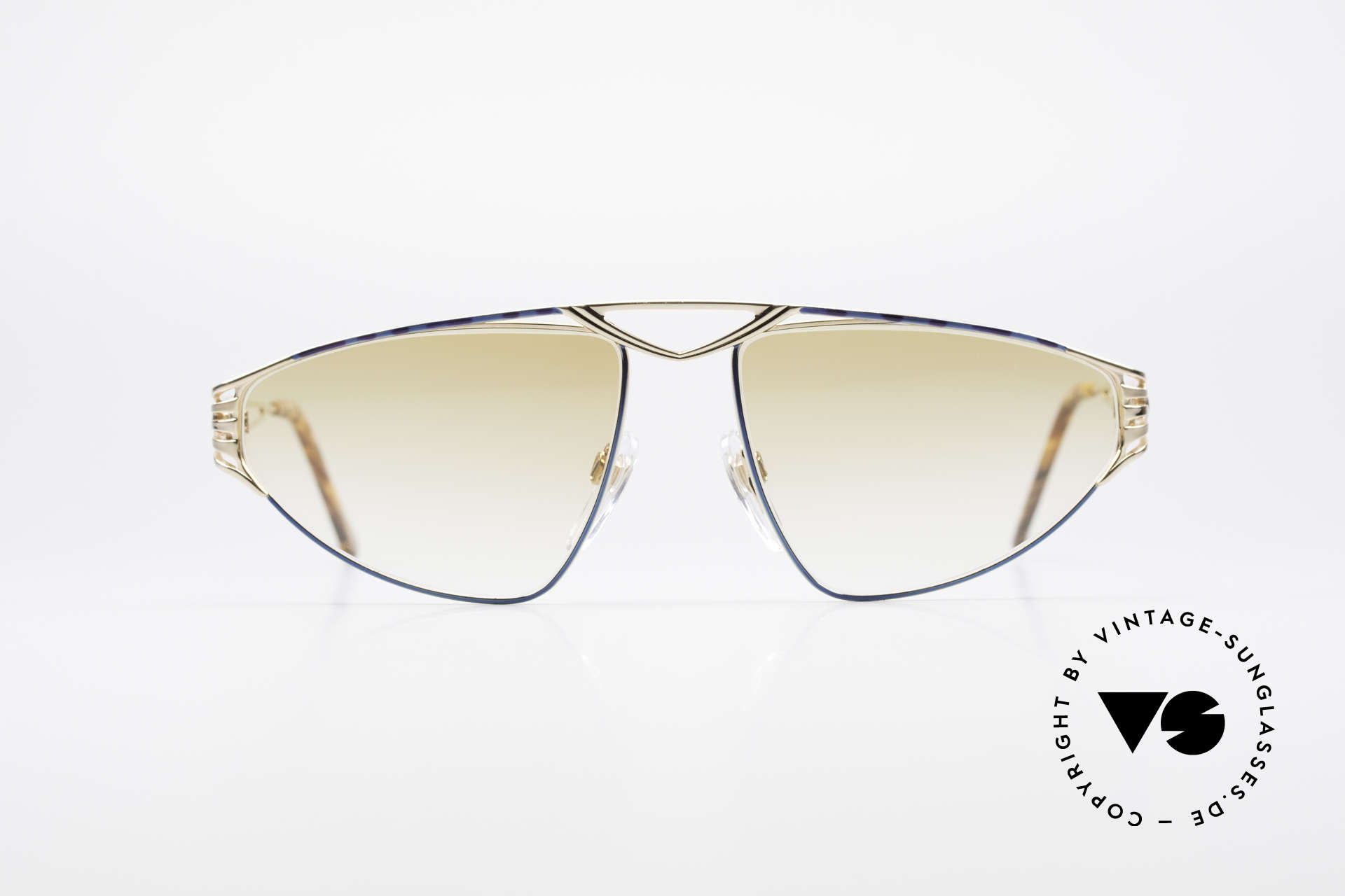 St. Moritz 4410 90's Luxury Sunglasses, designer shades: light tinted lenses; wearable at night, Made for Women