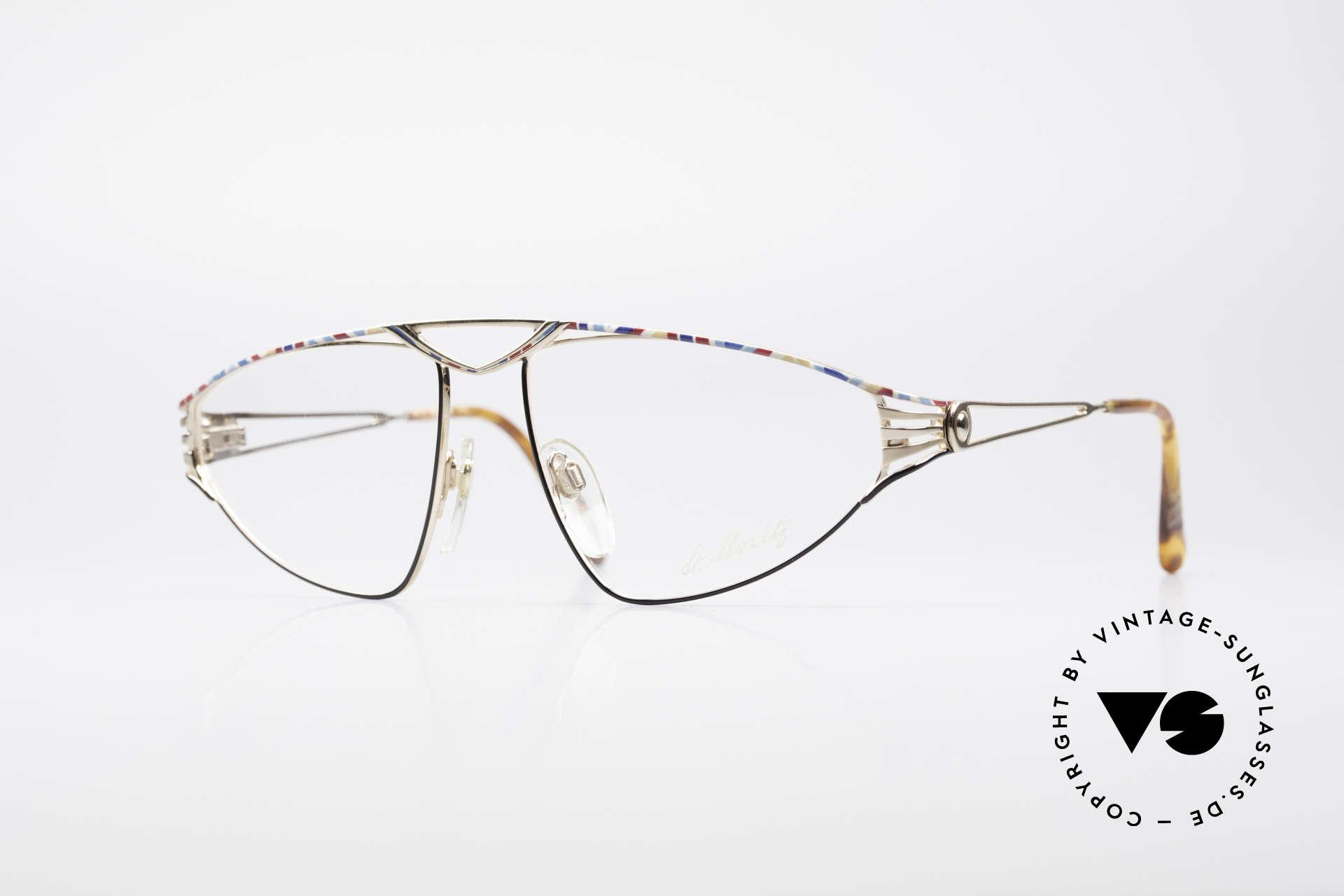 St. Moritz 4410 90's Luxury Eyeglasses, sensational St. Moritz vintage eyeglasses of the 1990s, Made for Women