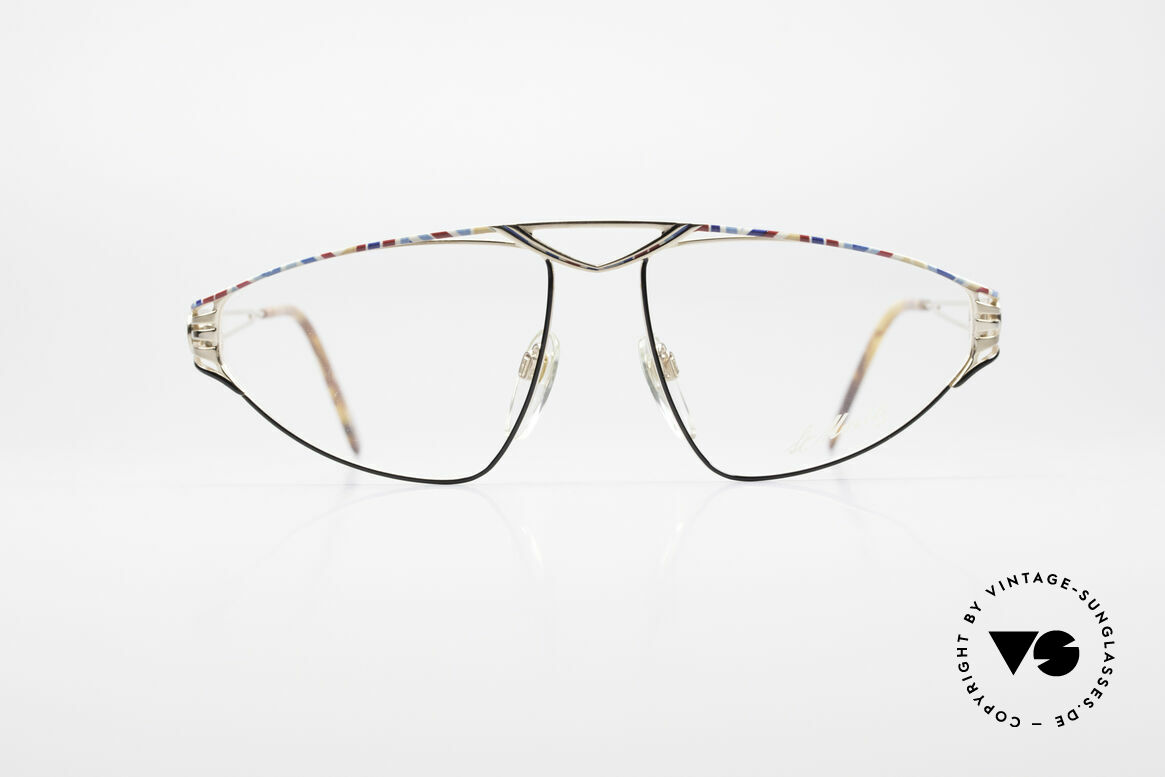 St. Moritz 4410 90's Luxury Eyeglasses, precious designer piece: Jupiter symbol on temple ends, Made for Women