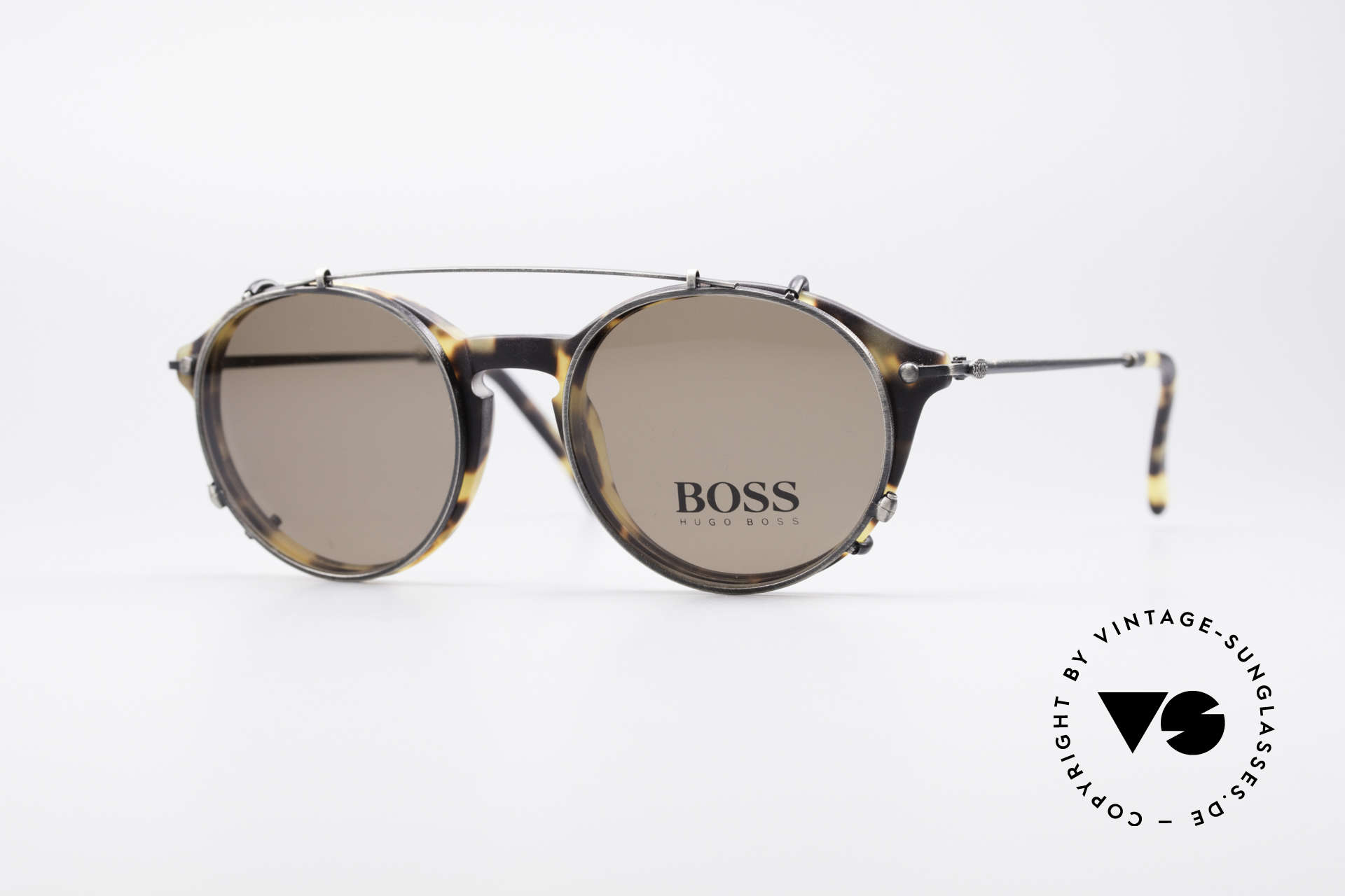 BOSS 5192 Sun Clip Panto Frame 1990's, classic vintage 'panto design' sunglasses by BOSS, Made for Men