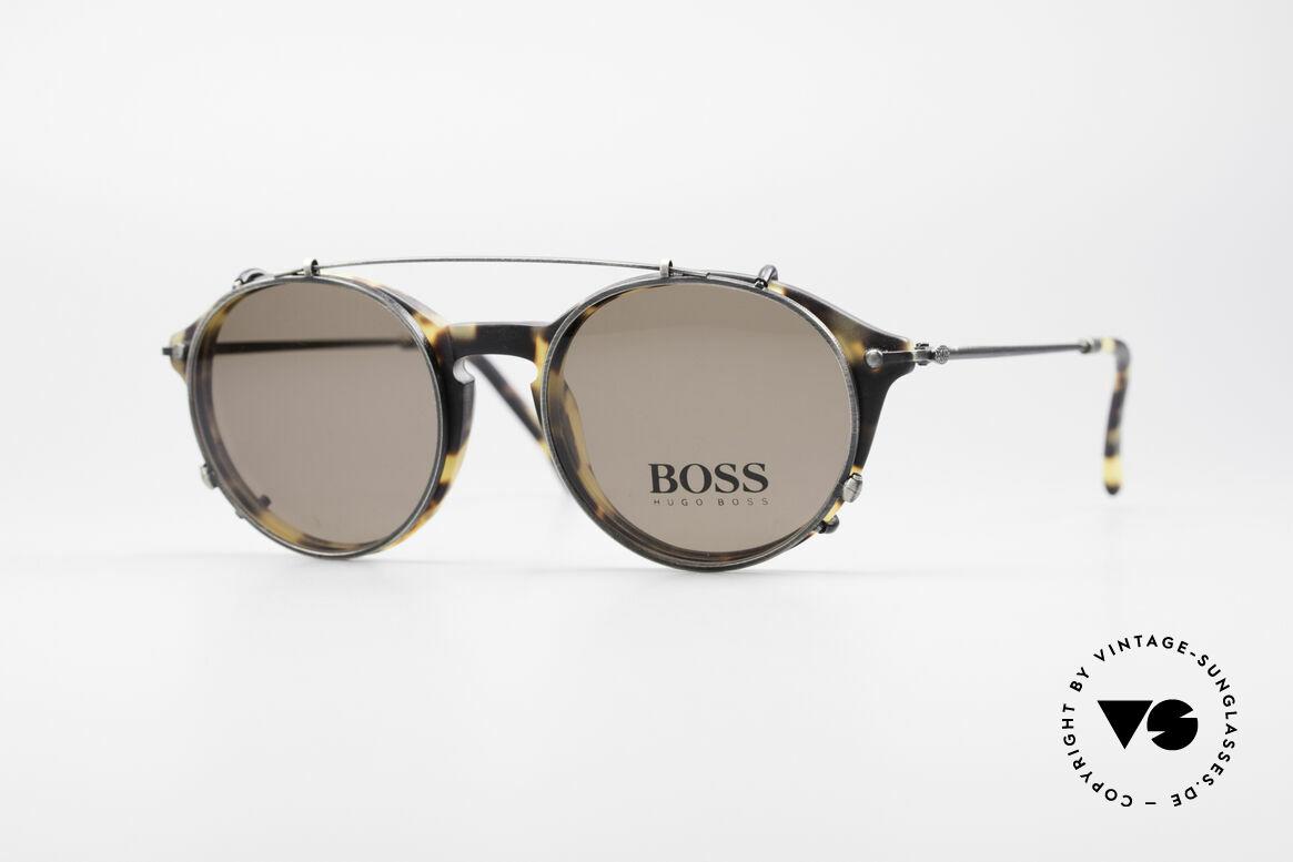 BOSS 5192 Sun Clip Panto Frame 1990's, classic vintage 'panto design' sunglasses by BOSS, Made for Men