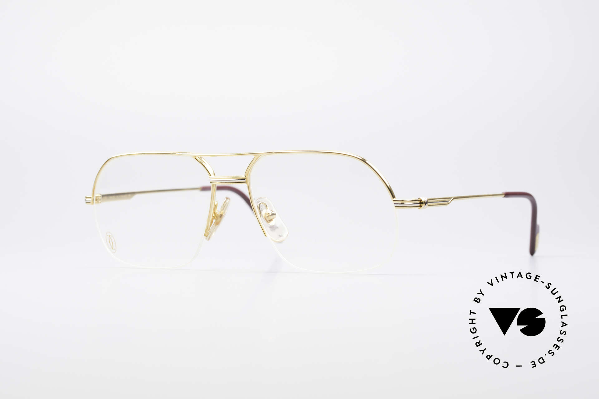 Cartier Orsay Luxury Vintage Eyeglasses, striking Cartier vintage eyeglass-frame, size 56°15, Made for Men