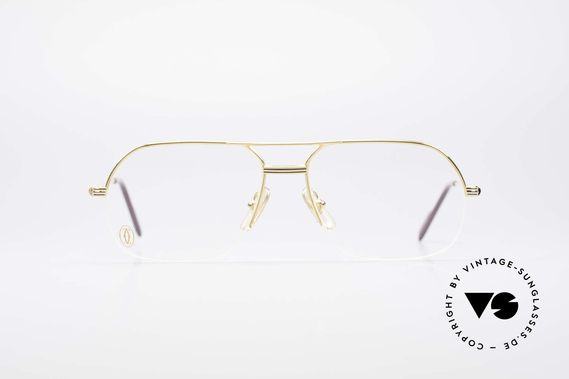 Cartier Orsay Luxury Vintage Eyeglasses, model of the 'Semi-Rimless' Collection by CARTIER, Made for Men
