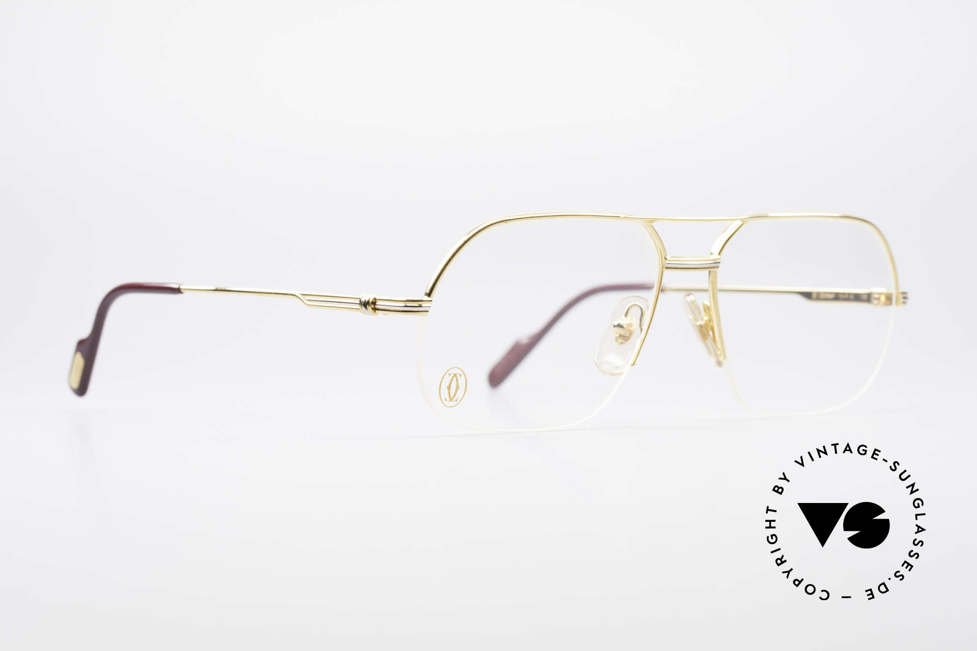 Cartier Orsay Luxury Vintage Eyeglasses, luxury Cartier half-frame, -lightweight and flexible, Made for Men