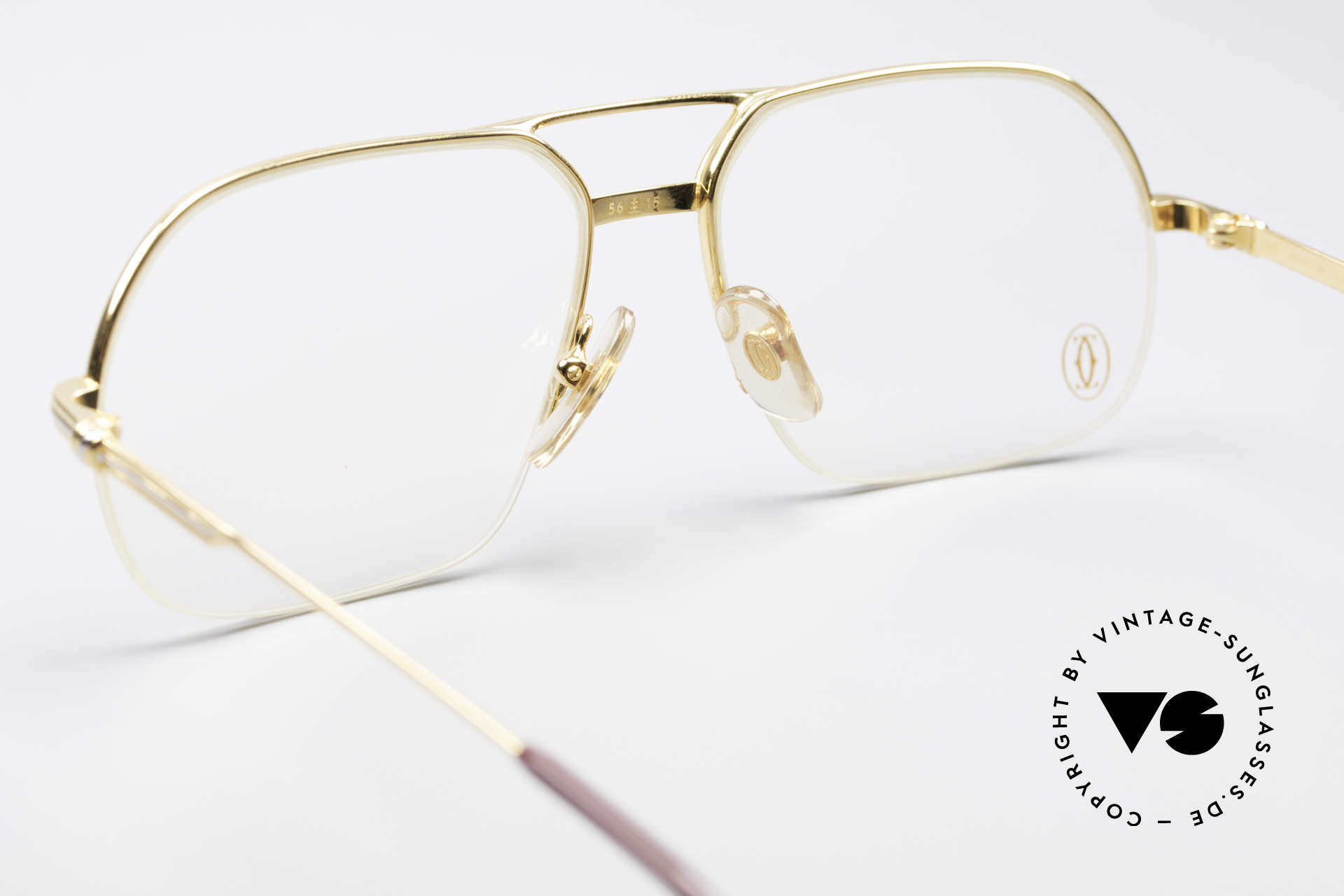 Cartier Orsay Luxury Vintage Eyeglasses, 22ct gold-plated (like all vintage CARTIER frames!), Made for Men