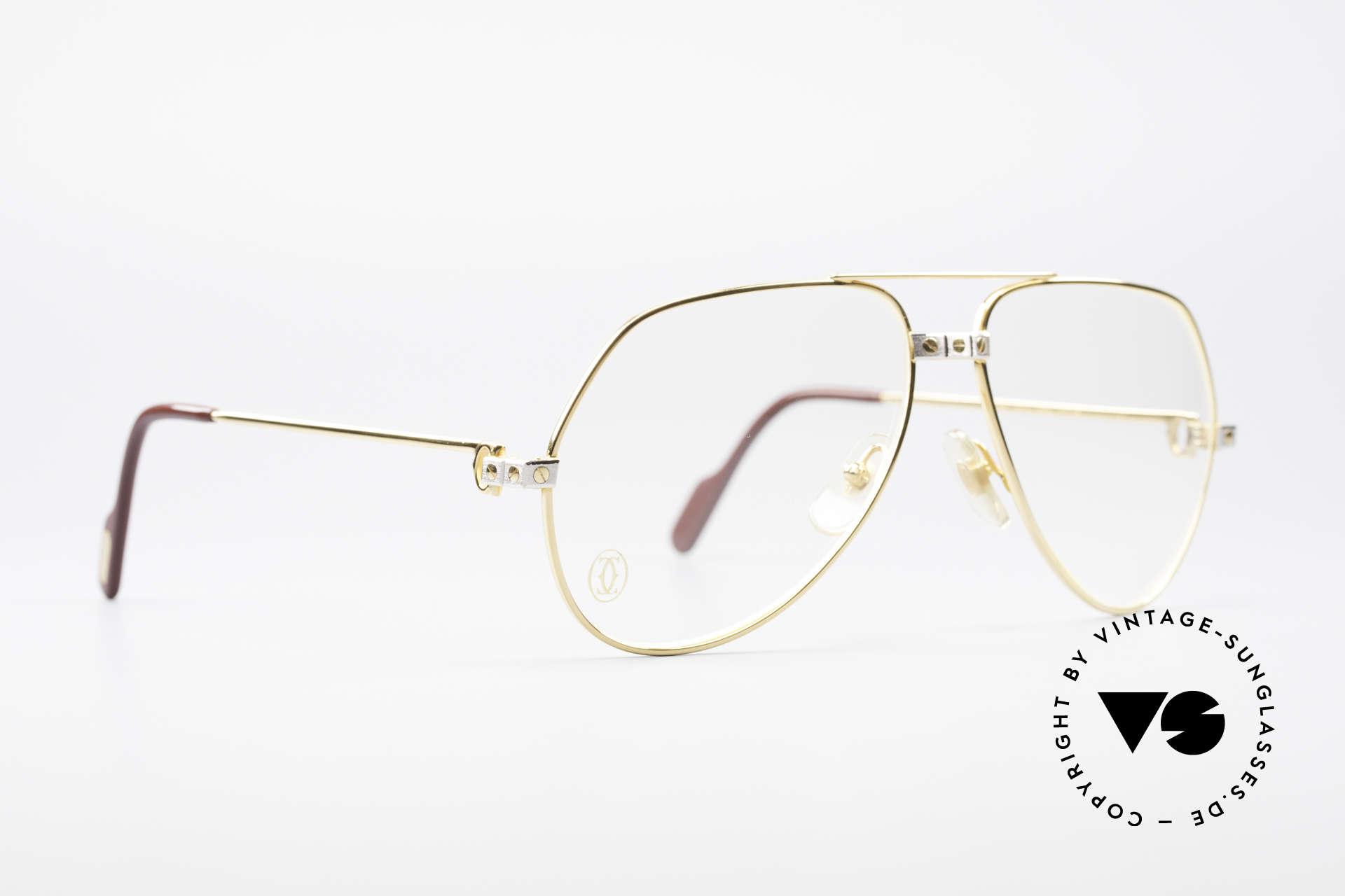 Cartier Vendome Santos - M James Bond Glasses Original, Santos Decor (with 3 screws): MEDIUM size 59-14, 140, Made for Men